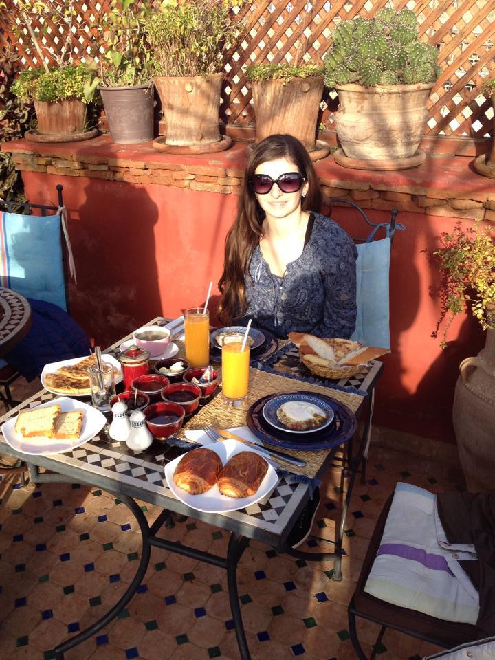 Marrakesh, rooftop breakfast