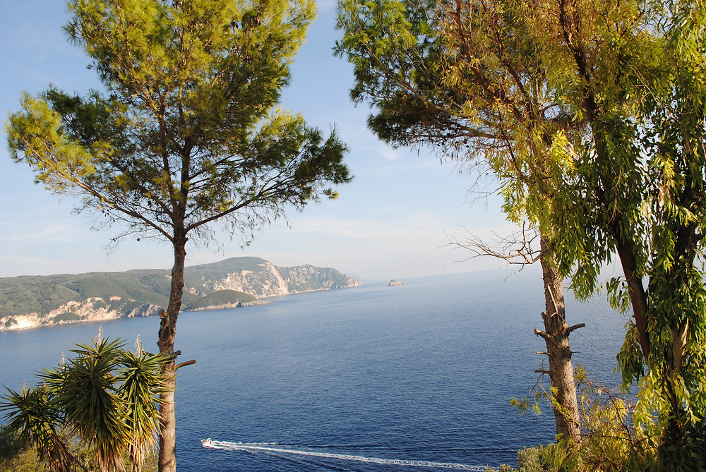 View over Palaiokastritsa bay