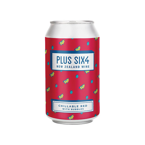 Plus Six4 Wine in a Can - Chillable Red 375ml