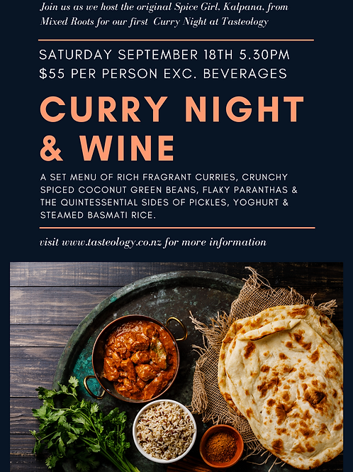 Curry Night & Wine Seat at the Table
