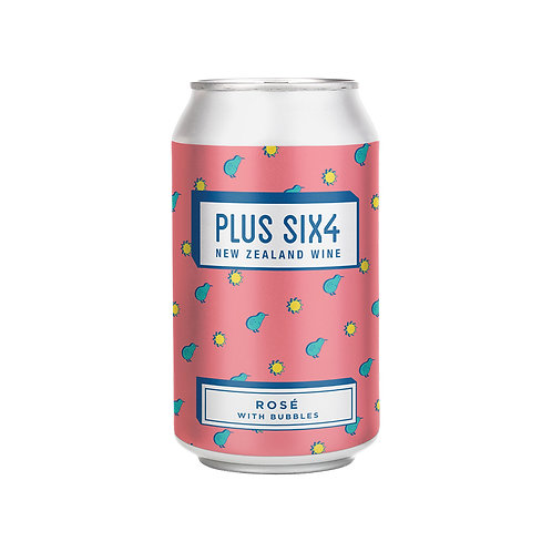 Plus Six4 Wine in a Can - Rosé 375ml