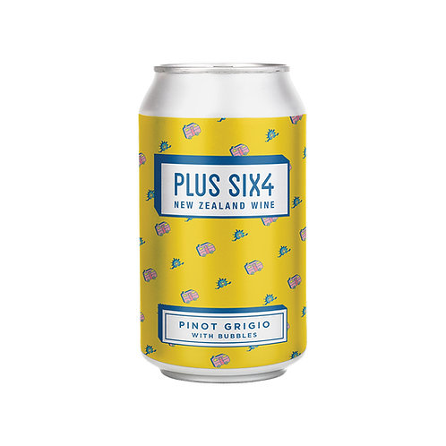 Plus Six4  Wine in a Can - Pinot Grigio 375ml