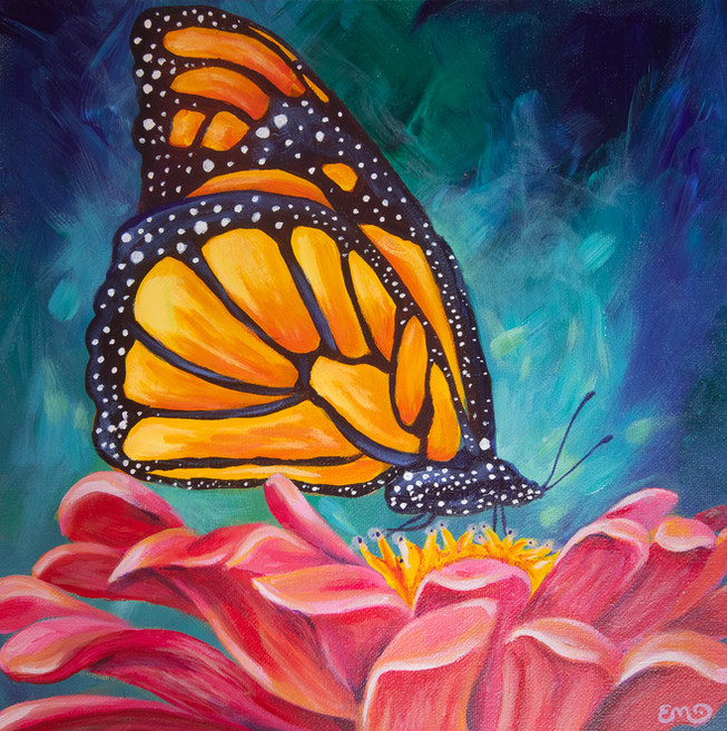 Butterfly and Pink Flower.jpg
