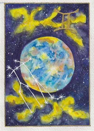 Gemini Watercolor Print