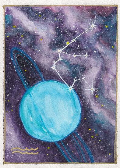 Aquarius Watercolor Print