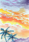 Watercolor Painting From Maui, Artist