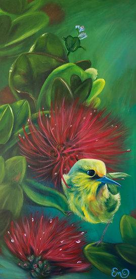 Harmony Maui Endemic Species Original Acrylic Painting