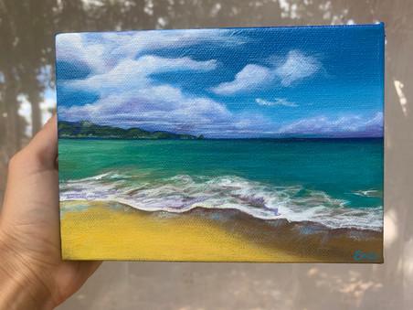 Maui Ocean Acrylic Painting