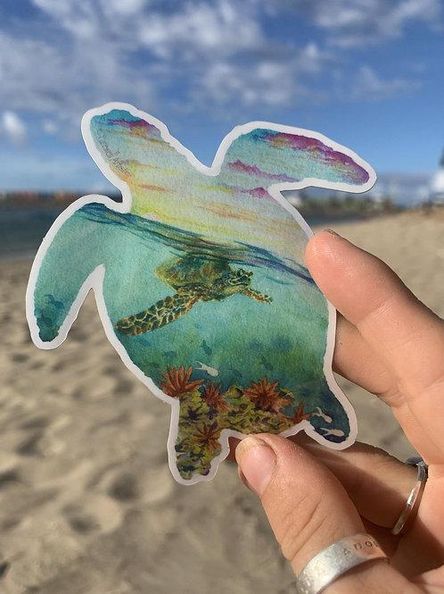 Turtle Silhouette Sticker
