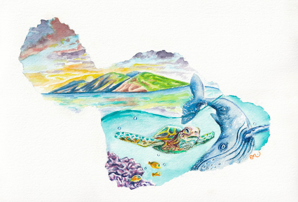 Watercolor Painting from Maui Artist