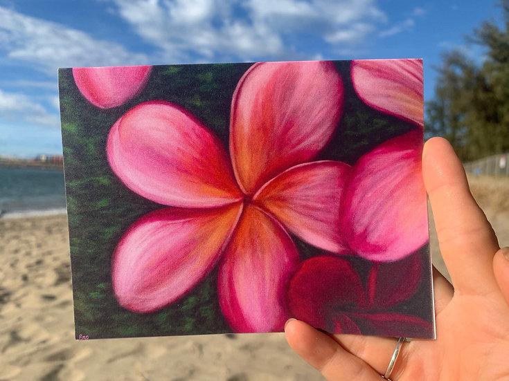 Pink Plumeria Greeting Card