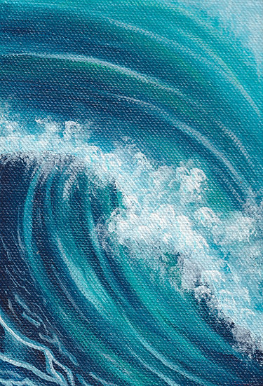 Twist Acrylic Painting Print