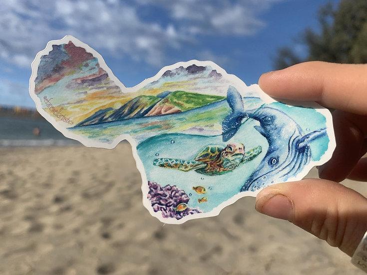 Small Maui Sticker