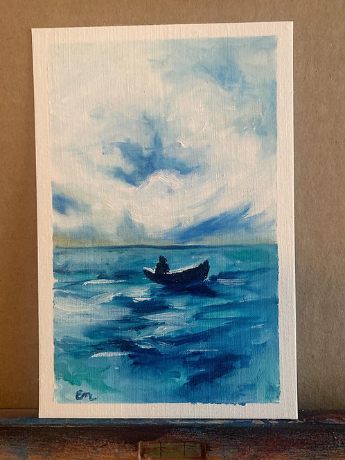 Man on the Water Oil Painting