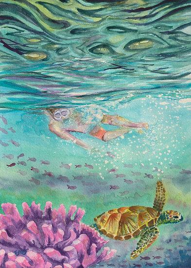 Snorkeling Mama's Print