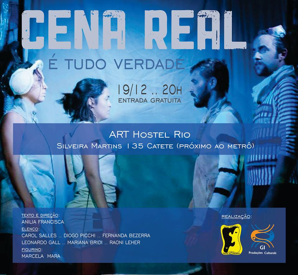 cartaz cena real art hostel