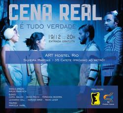cartaz cena real art hostel