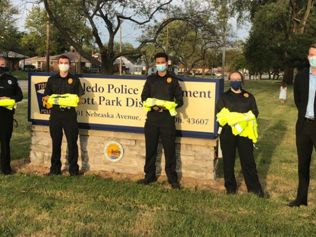 Toledo Police Foundation supply safety vests and medical supplies.