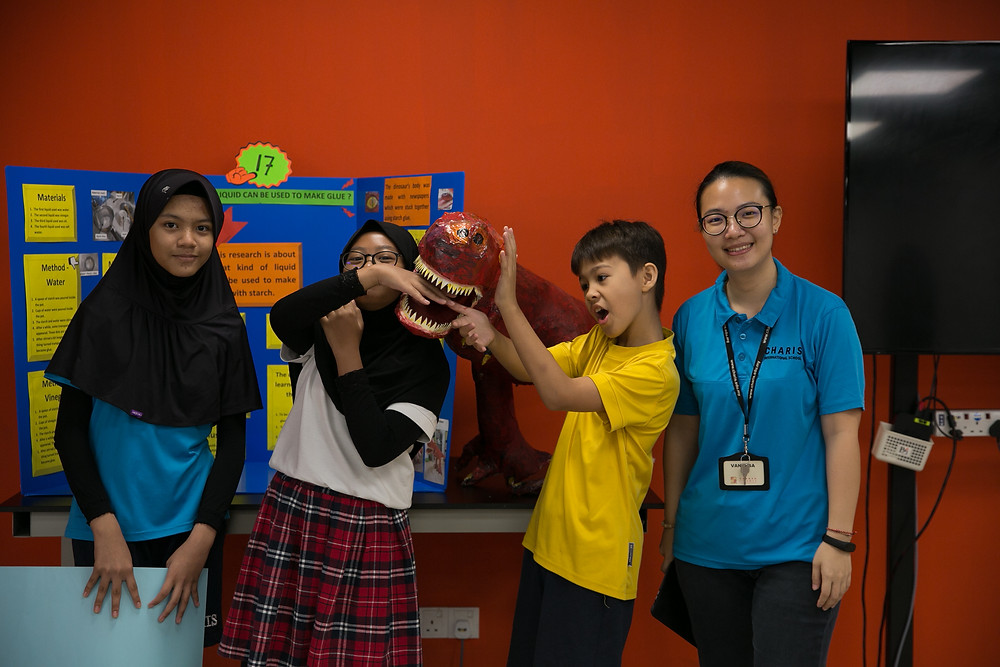 Home-made dinasour in Charis International School