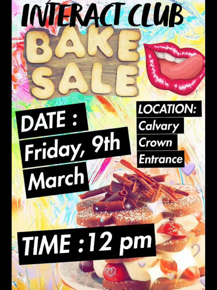 Interact Club Bake Sale