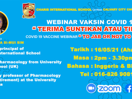 """COVID-19 Vaccine Webinar """"To Jab Or Not To Jab?"""""""
