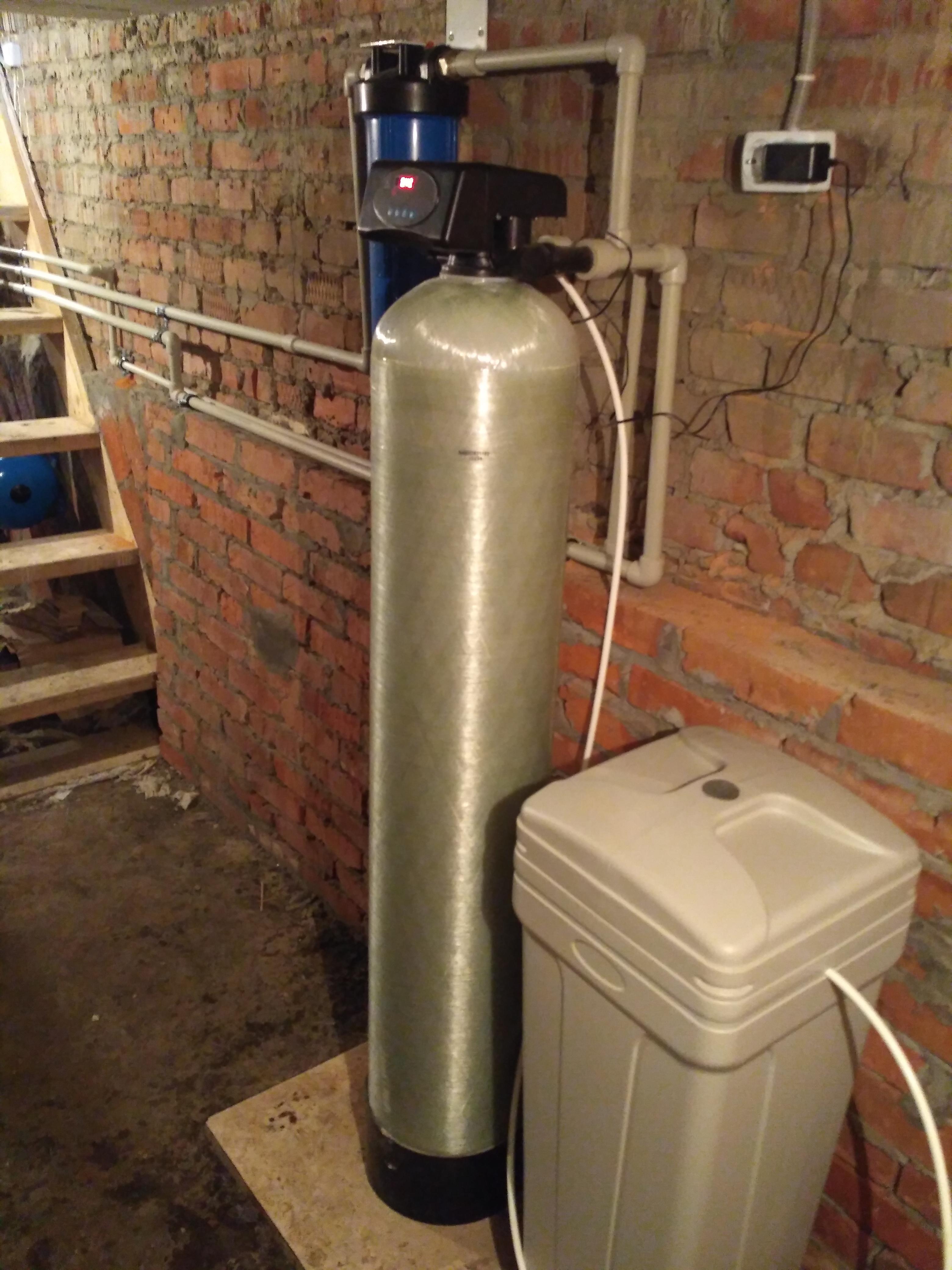 Умягчение воды в подвале