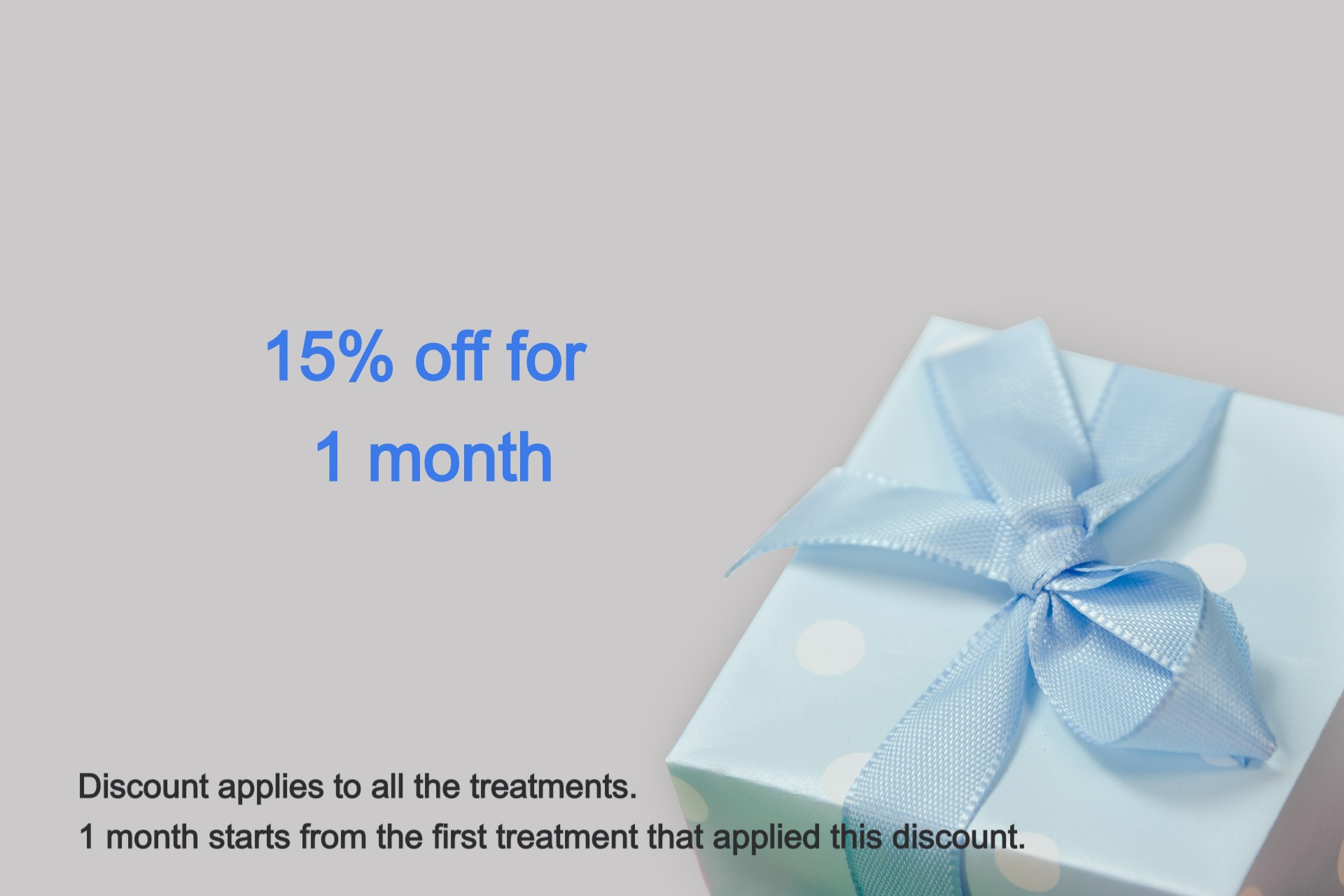 15% off for 1 month