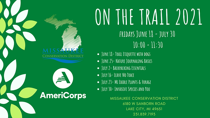 On The Trail 2021 schedule