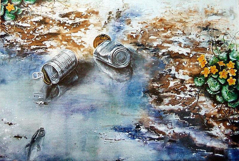 Dos latas y un pez.  2006