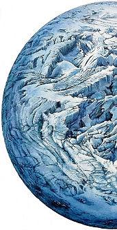12-Planeta glacial.(104cm. diametro)tec.