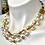 Thumbnail: Triple strand Pearls and Gucci like chain