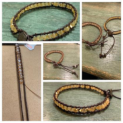 Wrapped CL type bracelet