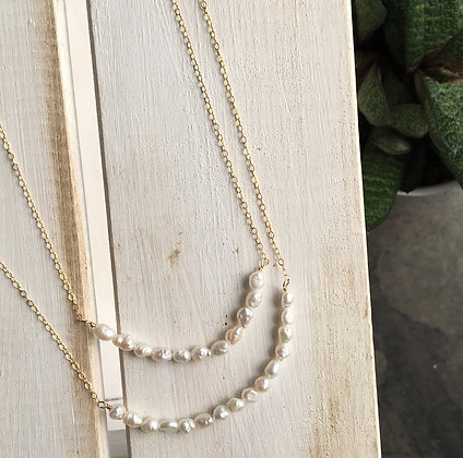 Freshwater Rice Pearls Necklace Set