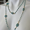 Thumbnail: Chalcedony long necklace with vintage pendant