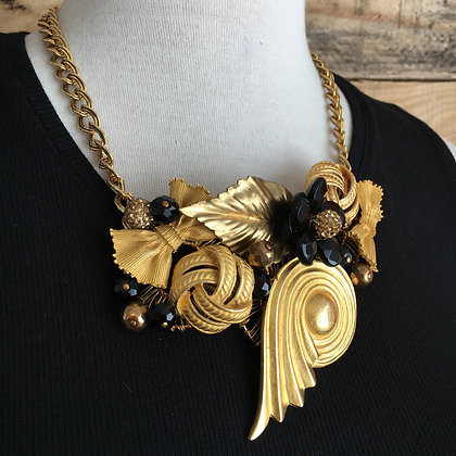 Gold Plated Bib Necklace