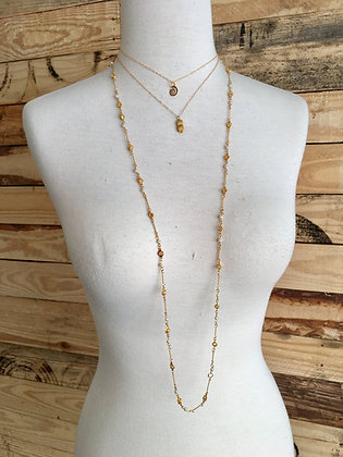 Layers of Gold Charm Necklace