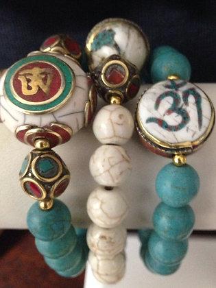Turquoise Tibetan bracelet