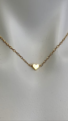 Gold filled heart and  chain