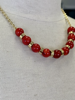 Red Coral and gold