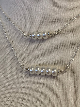 Sterling Silver chain and Pearls