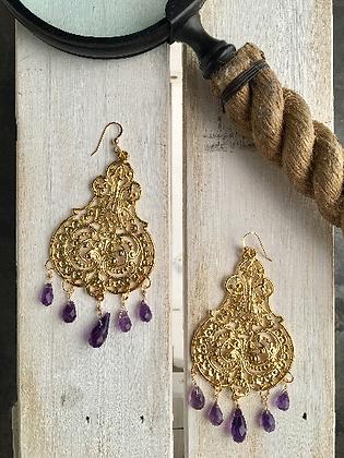 Amethyst Chandalier Earrings
