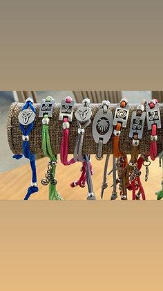 Camino De Santiago bracelets , suede adjustable bracelets