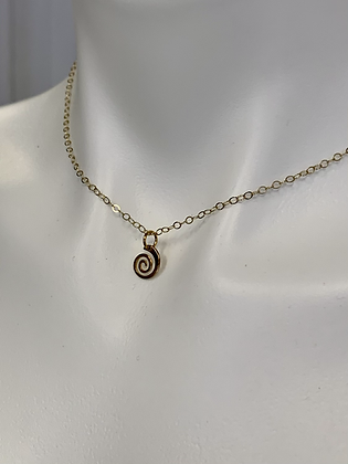 Gold filled chain with GF Spiral charm