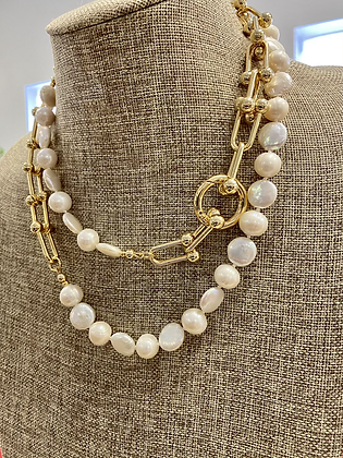 Freshwater Pearls with chain and spring clasp