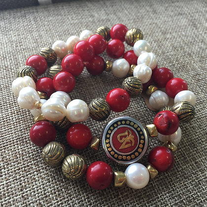 Tibetan Bracelet Stacked