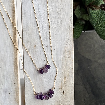 Tears of Joy Amethyst Briolletes Necklace Set