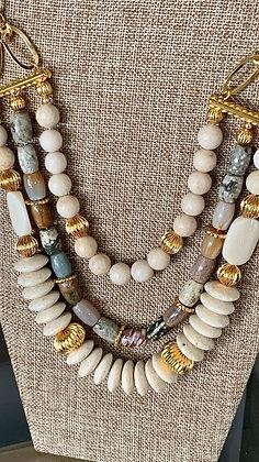 Triple statement necklace