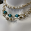 Thumbnail: Pearls and chain choker,  choker necklace, pearl necklace