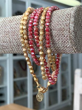 Beaded wrap bracelets , wrap bracelets that are also necklaces