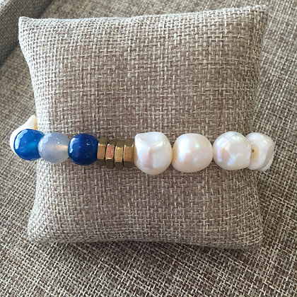 Pearl and Blue Agate Expandable